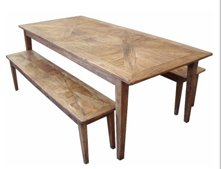 Furniture Ranges :: Parquetry Recycled Elm :: Parquetry Dining Table Inside Well Liked Parquet Dining Tables (View 8 of 20)