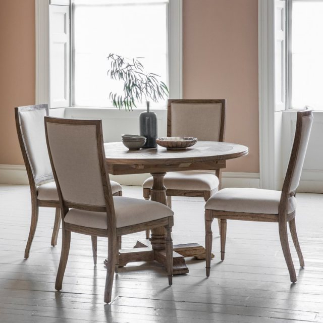 Gallery Hudson Mustique Round Extending Dining Table – Brentham Throughout Widely Used Hudson Round Dining Tables (View 3 of 20)