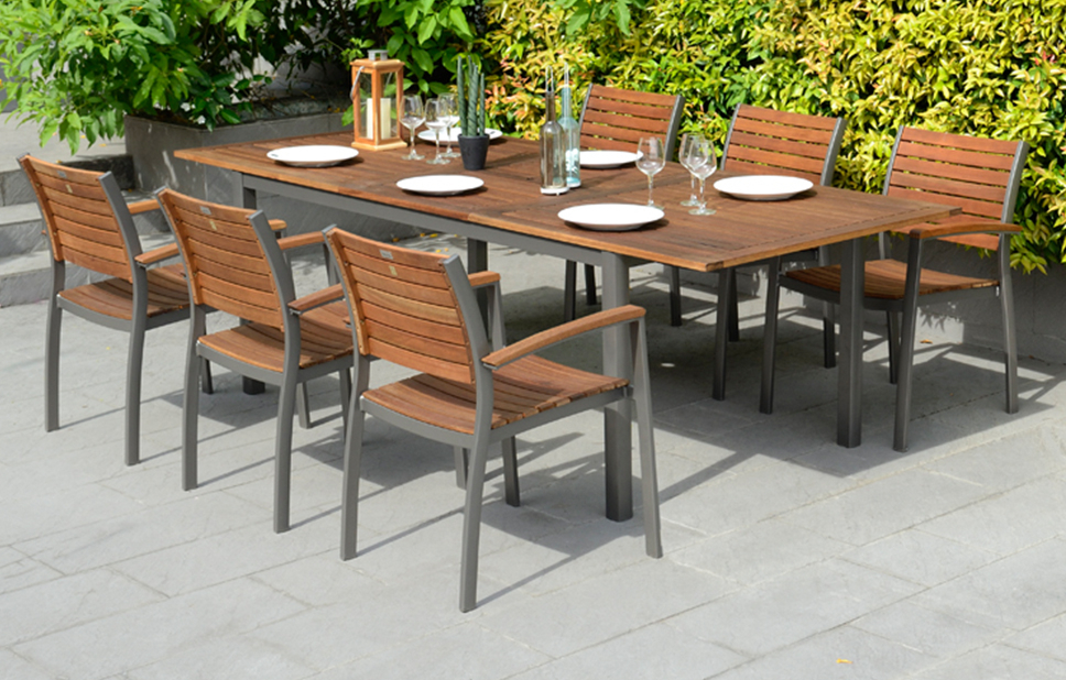 Garden Dining Tables With Regard To Recent Metal Dining Set – 6 Seats – Garden Furniture – Out & Out Original (View 9 of 20)