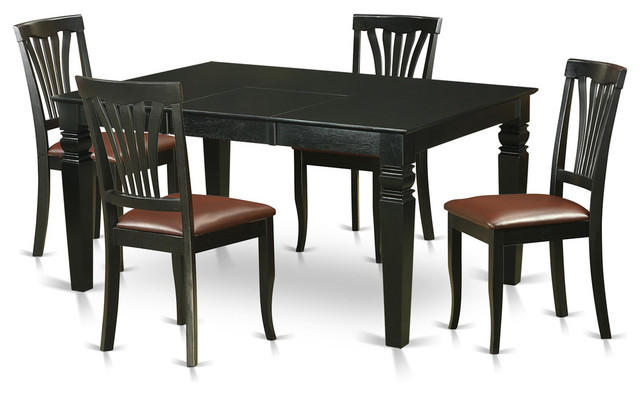 Gavin Dining Table Set, Black – Traditional – Dining Sets – Regarding Well Liked Gavin Dining Tables (View 5 of 20)