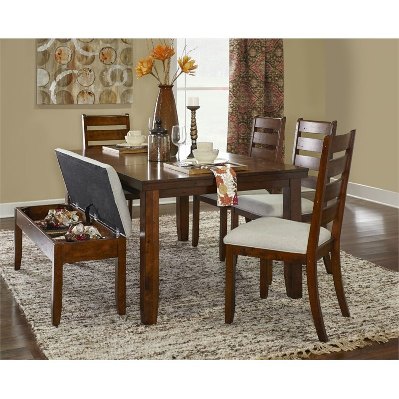 Gavin Dining Tables Pertaining To Most Recent Powell Gavin 6 Piece Wood Dining Set In Rustic Walnut – 16D2006Pc (View 10 of 20)