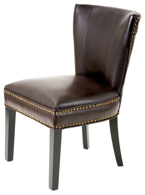 George Dining Chair – Transitional – Dining Chairs  Gdfstudio With Popular Brown Leather Dining Chairs (View 10 of 20)