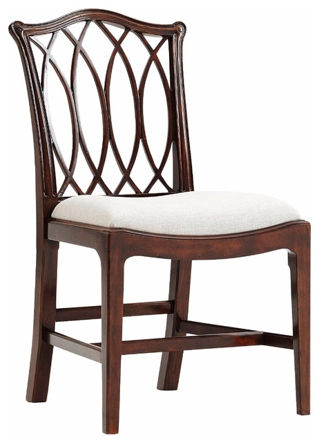 George Iii Trellis Back Side Chair – Transitional – Dining Chairs Regarding 2017 Clay Side Chairs (Gallery 10 of 20)