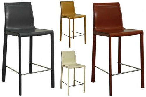 Gervin Recycled Leather Counter Stool Regarding Latest Valencia 4 Piece Counter Sets With Bench & Counterstool (View 19 of 20)