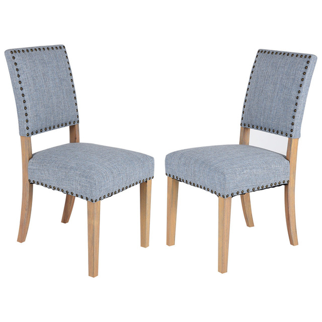 Giantex Set Of 2Pcs Fabric Dining Chairs With Rubber Wood Legs Home Intended For Most Recent Fabric Dining Chairs (View 12 of 20)
