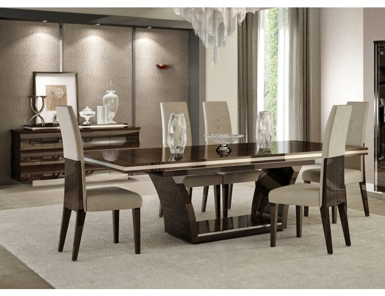 Giorgio Italian Modern Dining Table Set With 2018 Cheap Dining Room Chairs (View 12 of 20)