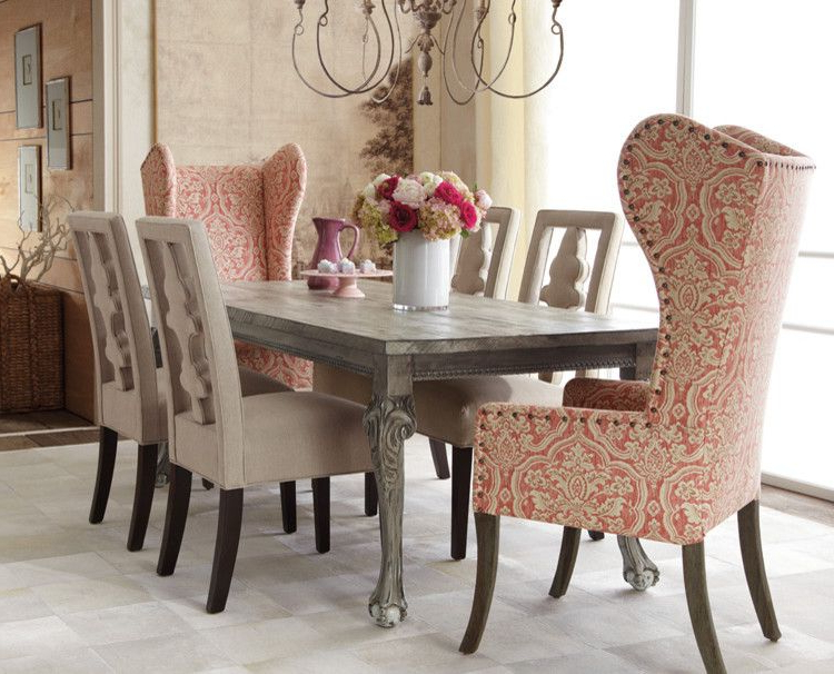 Glamorous Wingback Chairs In Dining Room Traditional With Wing Chair For Most Recently Released High Back Dining Chairs (View 8 of 20)