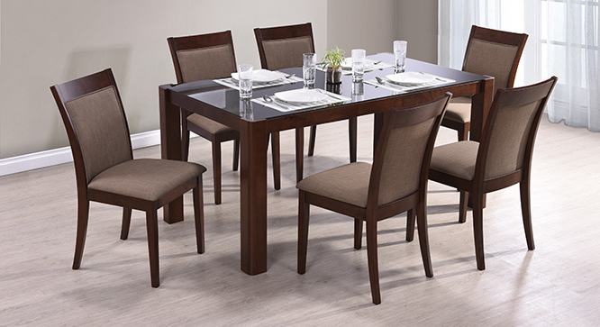 Glass 6 Seater Dining Tables Pertaining To 2017 Round 6 Seater Dining Table Delectable Decor Simple Design Regarding (View 10 of 20)