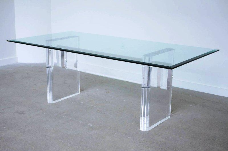 Glass Acrylic Dining Table — Jayne Atkinson Homesjayne Atkinson Homes Intended For Best And Newest Acrylic Dining Tables (View 11 of 20)