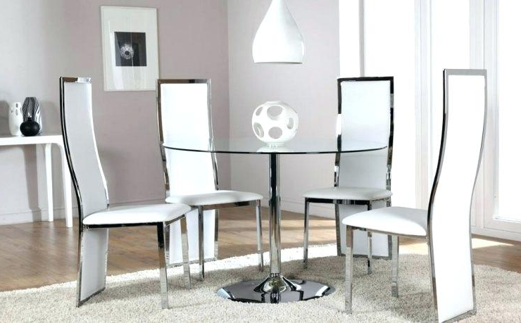Glass And Chrome Dining Tables And Chairs Pertaining To Popular Nevada Dining Table And Chairs Collection Nevada Dining Table And (View 7 of 20)