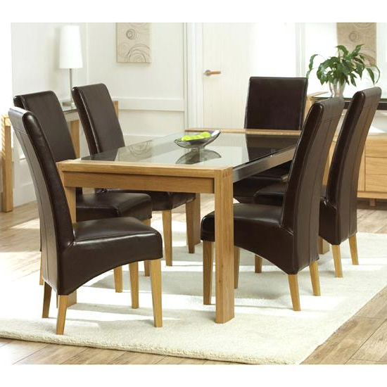 Glass And Oak Dining Tables And Chairs Throughout Popular Glass Top Dining Table – Jayvado (View 9 of 20)