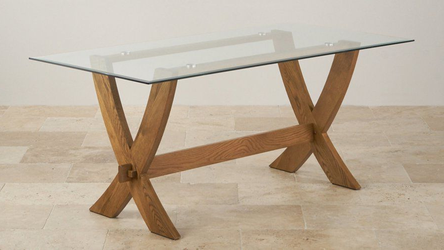 Glass And Oak Dining Tables And Chairs With Regard To Latest Glass Top Dining Tables (View 12 of 20)