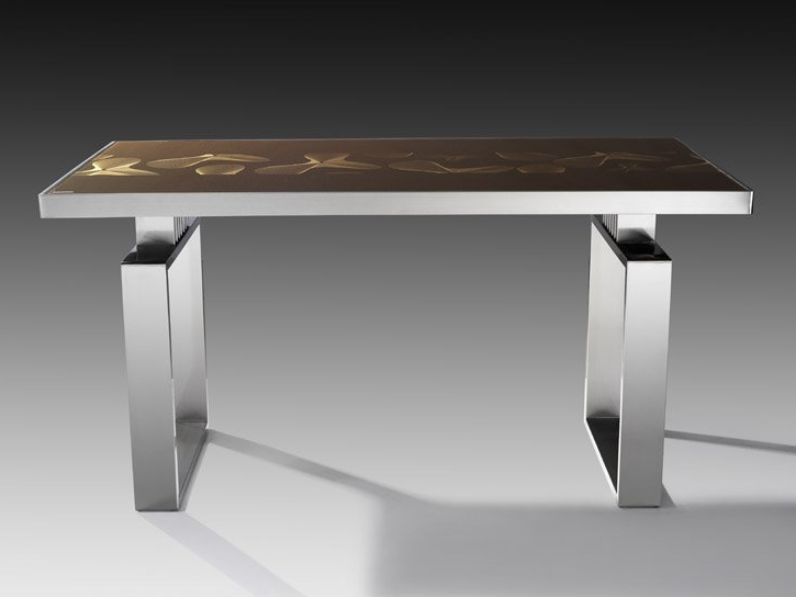 Glass And Stainless Steel Dining Tables Throughout Fashionable Glass Dining Table China (mainland) Dining Room Sets (View 9 of 20)