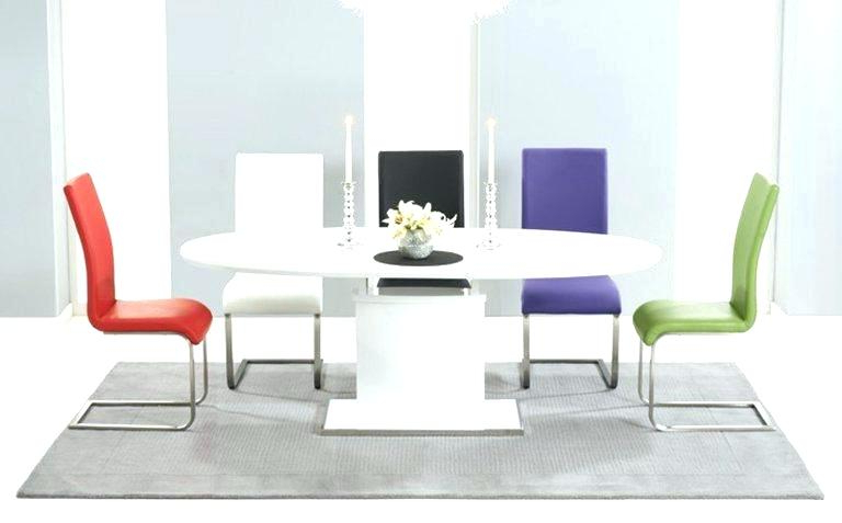 Glass And White Gloss Dining Tables With Regard To Preferred White Gloss Dining Set Modern White Gloss Dining Table Glass Legs (View 11 of 20)