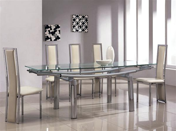 Glass Dining Table And Chairs – Ecovegangal.live Intended For Trendy Glass And Chrome Dining Tables And Chairs (Gallery 20 of 20)