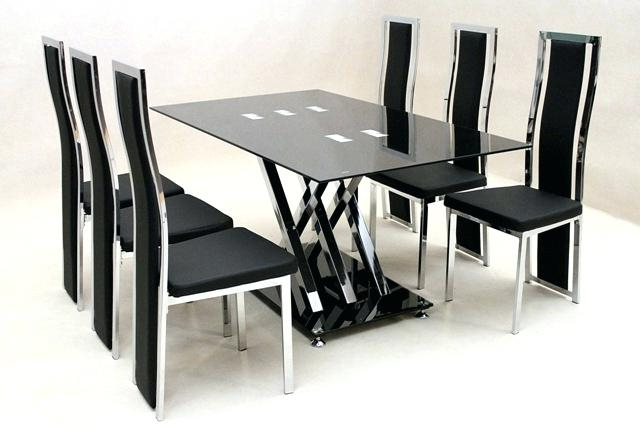 Glass Dining Tables 6 Chairs With Famous 6 Seat Dining Table Incredible Dining Table 6 Chairs Round Glass (View 2 of 20)