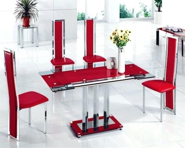 Glass Dining Tables And 6 Chairs Intended For Most Current Dining Table Set For 6 Glass Dining Room Sets For 6 Delightful Glass (View 9 of 20)