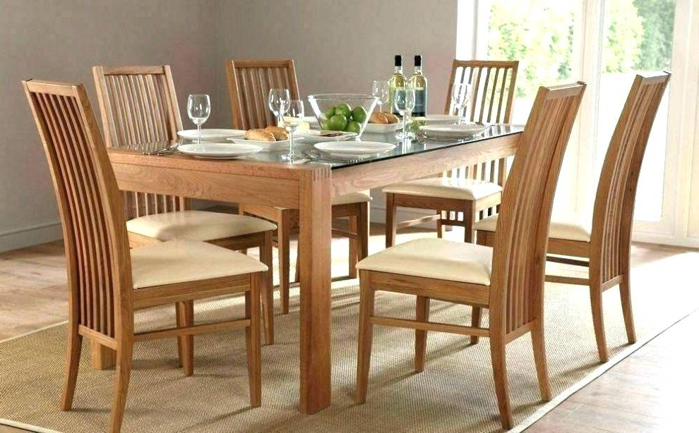 Glass Dining Tables And 6 Chairs Intended For Trendy Round Dining Sets For 6 – Mrmead (View 10 of 20)