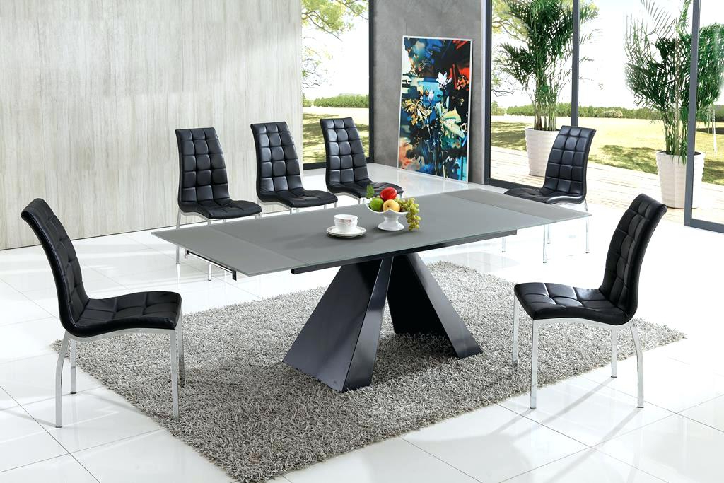 Glass Dining Tables And Chairs With Regard To 2018 Modern Dining Table And Chairs Black And White Dining Table Chairs (View 14 of 20)