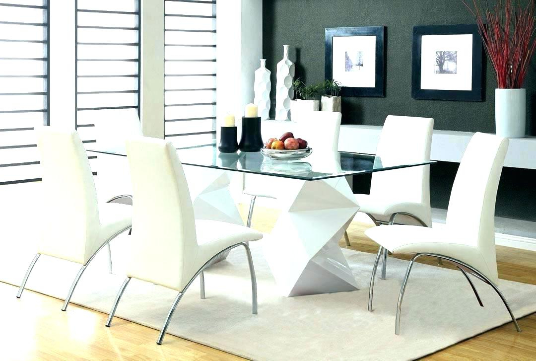 Glass Dining Tables Sets Inside Most Current Glass Top Dining Room Table And Chairs – Kuchniauani (Gallery 13 of 20)