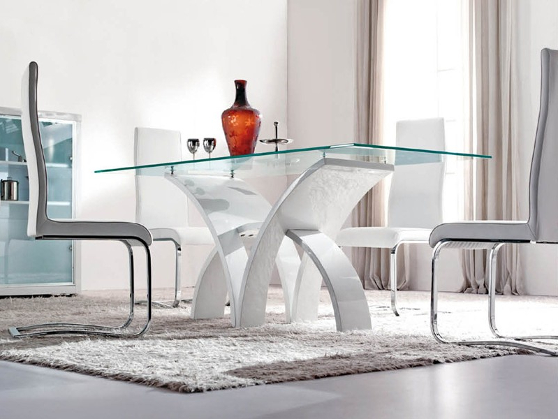 Glass Dining Tables Sets Within Well Known Modern Dining Room Furniture, Glass Dining Tables, Bar Tables And (View 11 of 20)