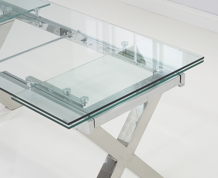 Glass Folding Dining Tables Throughout Best And Newest Buy Mark Harris Cilento Glass Rectangular Extending Dining Table (View 8 of 20)