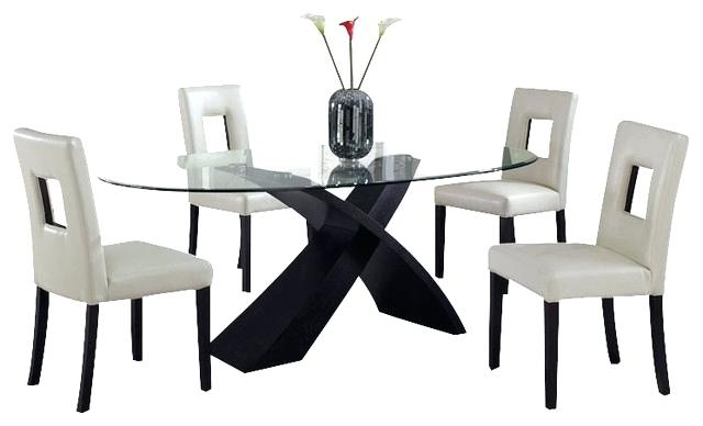 Glass Oval Dining Tables Alluring Oval Glass Dining Room Table On Throughout Most Popular Glass Dining Tables And 6 Chairs (View 19 of 20)