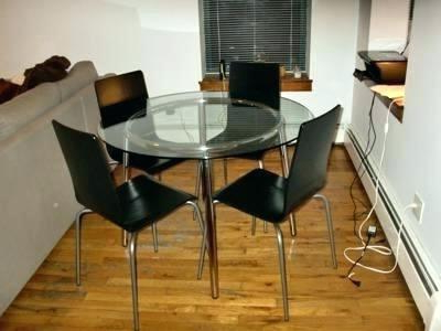 Glass Round Dining Table Ikea Glass Round Dining Table With 4 Chairs Within Most Recently Released Ikea Round Glass Top Dining Tables (View 3 of 20)