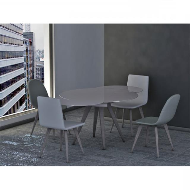 Glass Round Extending Dining Tables Pertaining To Most Recent Myles Circular Extending Dining Table (View 18 of 20)