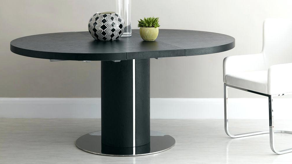 Glass Round Extending Dining Tables Throughout Favorite Black Round Dining Set Black Glass Round Dining Table With Rotating (View 17 of 20)