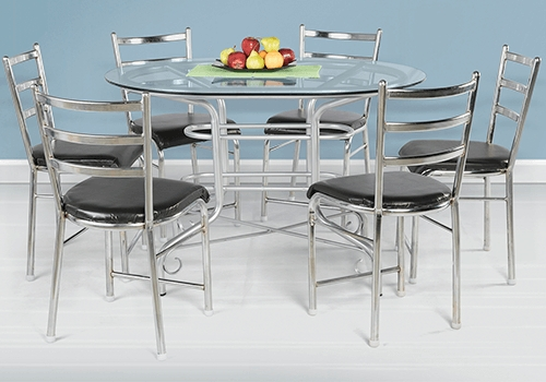 Glass Top 6 Seater Dining Table Set On Rent In Bangalore – Guarented Within Well Liked 6 Seater Glass Dining Table Sets (View 13 of 20)