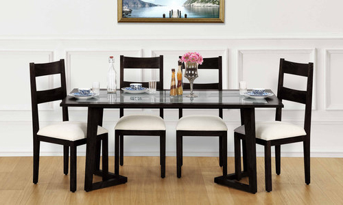 Glass Top 6 Seater Dining Tables, 6 Seater Dining Table Set – Gunjan Inside Trendy Glass 6 Seater Dining Tables (View 8 of 20)