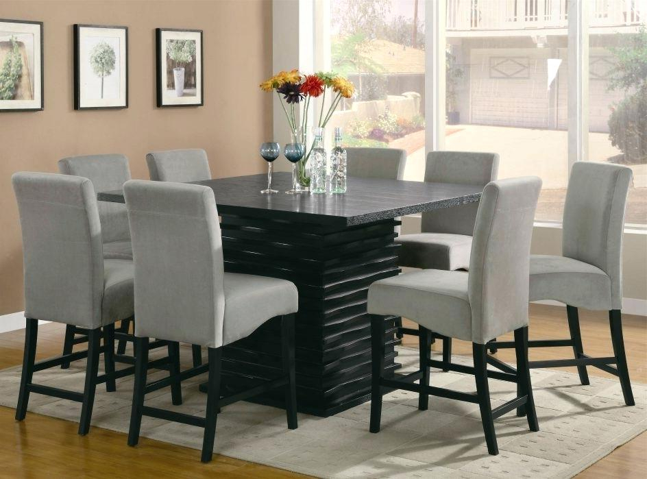 Glass Top Dining Table With 8 Chairs – Glass Decorating Ideas In Popular Dining Tables And 8 Chairs Sets (Gallery 3 of 20)