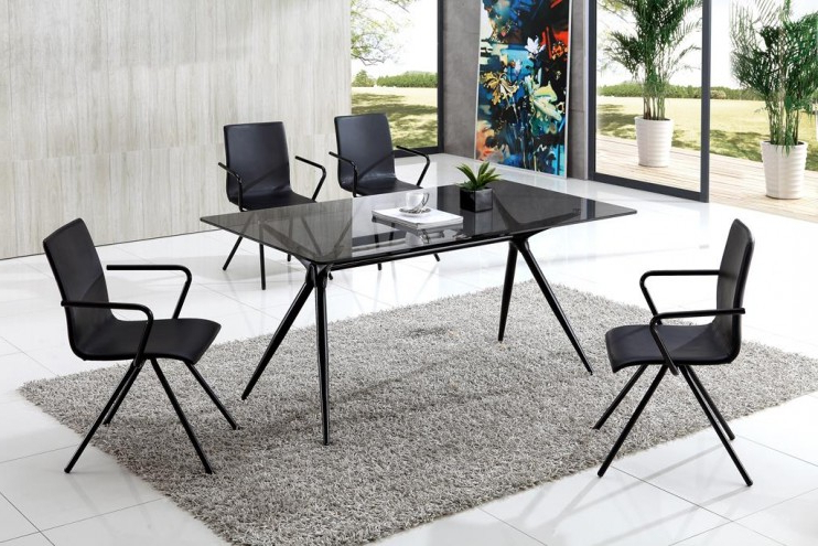 Glass Within Smoked Glass Dining Tables And Chairs (Gallery 5 of 20)