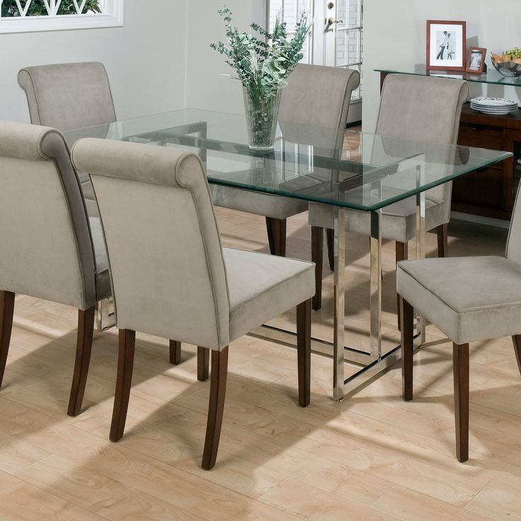 Glasses Dining Tables In Preferred Dining Room Round Glass Dining Table With Chairs Dining Room Chairs (View 8 of 20)