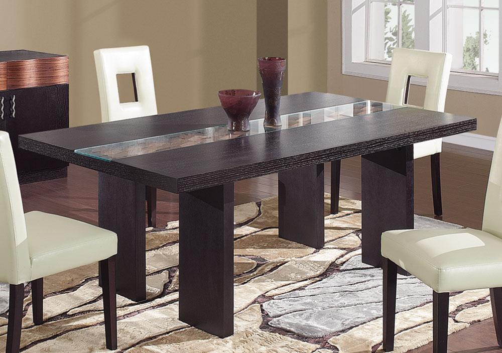Global Furniture Usa Amanda Dining Table – Dark Brown Gf Amanda Dt Throughout Recent Dark Brown Wood Dining Tables (View 3 of 20)