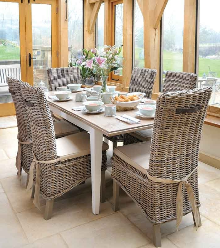 Good Wicker Dining Room Chairs — New Home Design : Wicker Dining With Regard To Favorite Rattan Dining Tables And Chairs (View 7 of 20)