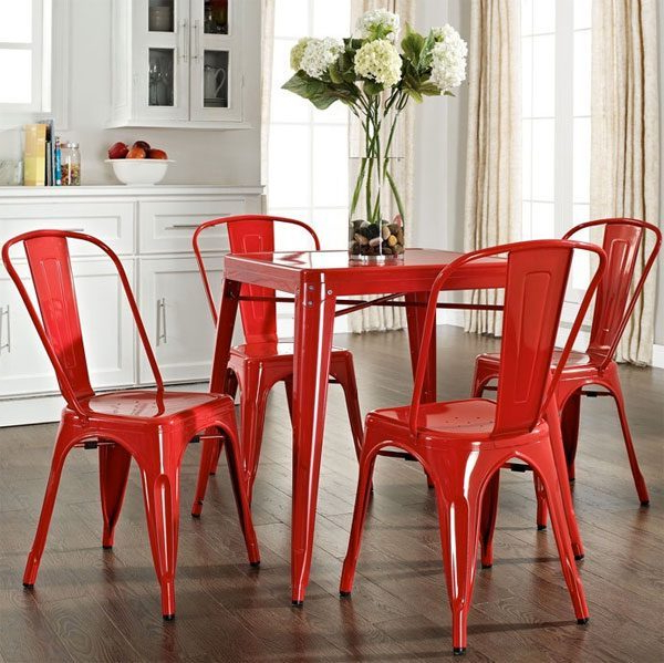 Featured Photo of Red Dining Chairs