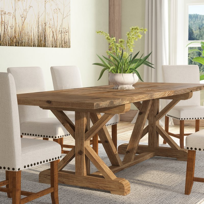 Gracie Oaks Camden Den Wood Extendable Dining Table & Reviews (View 6 of 20)