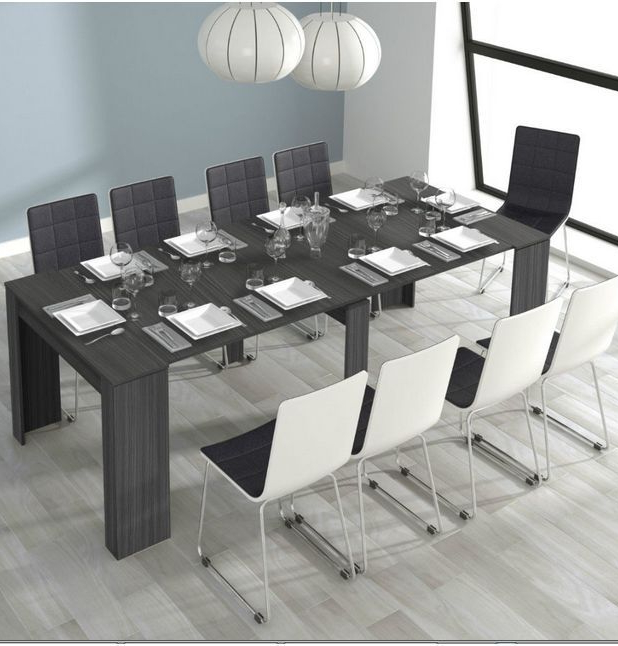 Grande 5 Position Extending Ash Grey Soft Gloss Dining Table Intended For Well Known Grey Gloss Dining Tables (View 9 of 20)