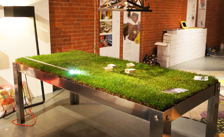 Grassy Picnyc Table Brings Al Fresco Dining To Your Living Room For 2018 Green Dining Tables (View 6 of 20)