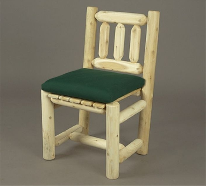 Green Cedar Dining Chairs Pertaining To Well Known Rustic Cedar 0100003 Dining Chair (View 6 of 20)