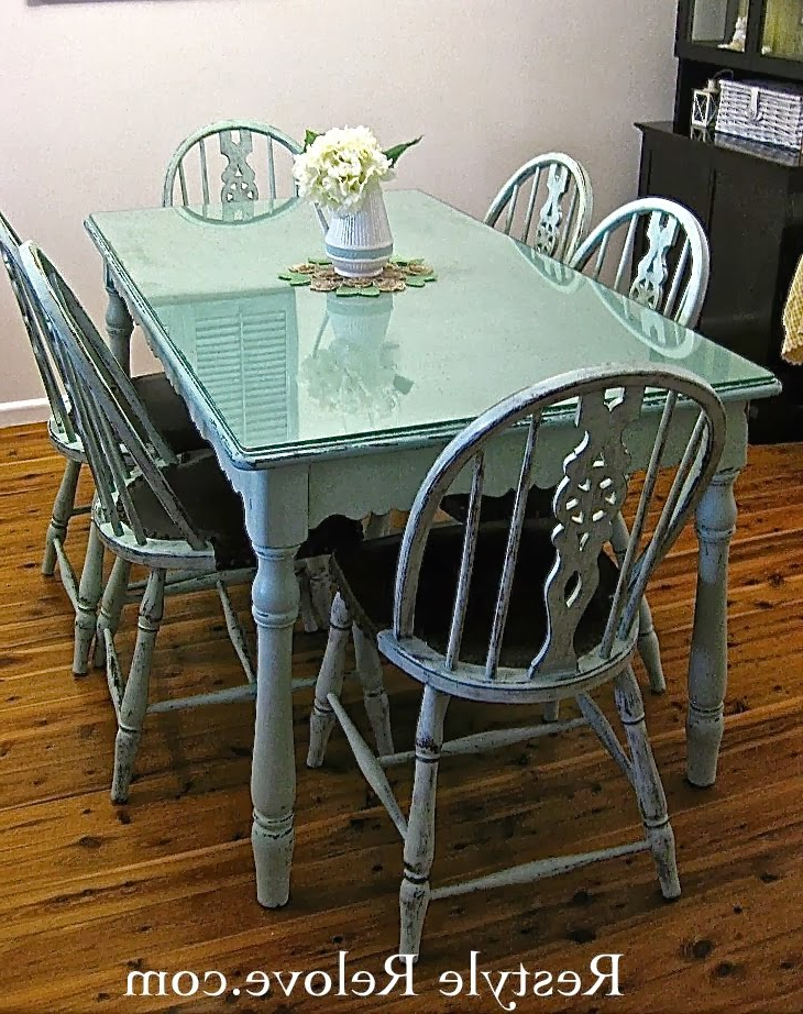 Green Dining Tables Pertaining To Famous Wednesday's Projects Past – Farmhouse Style Vintage Green Dining (View 4 of 20)