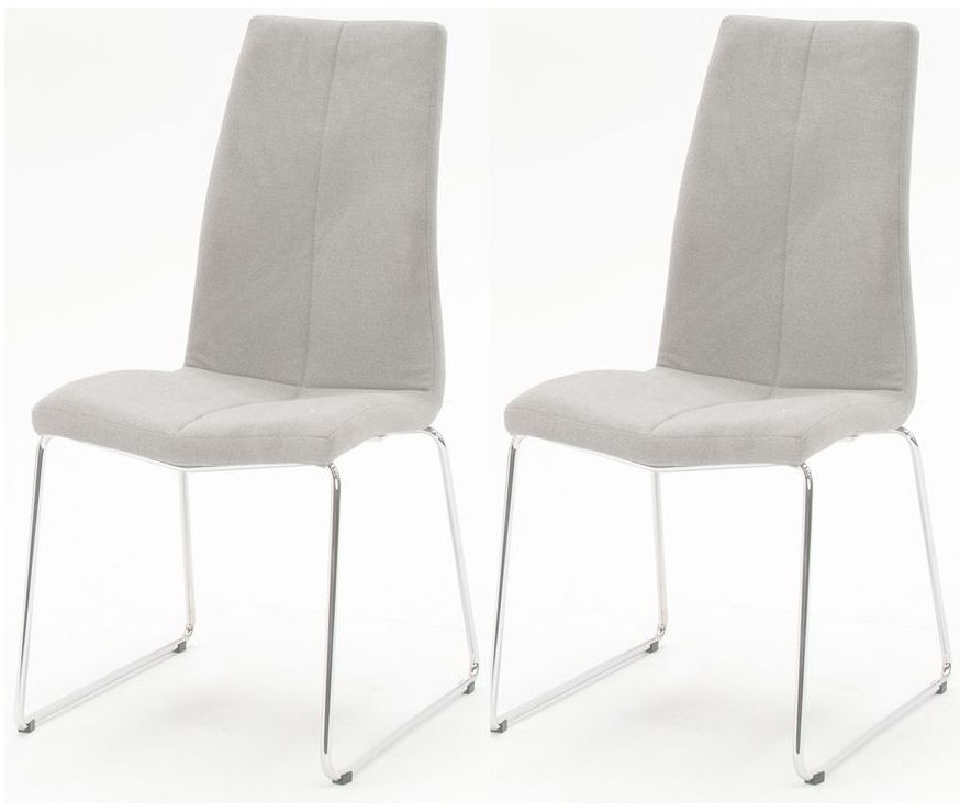 Grey Dining Chairs With Well Known Buy Vida Living Evoque Grey Fabric Dining Chair (Pair) Online – Cfs Uk (View 11 of 20)