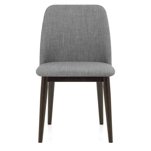 Grey Dining Chairs Within Most Recently Released Elwood Walnut Dining Chair Grey Fabric – Atlantic Shopping (View 8 of 20)