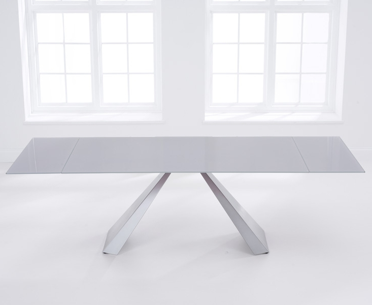 Grey Glass Dining Tables Within Popular Buy Mark Harris La Linea Light Grey Glass Rectangular Extending (Gallery 17 of 20)
