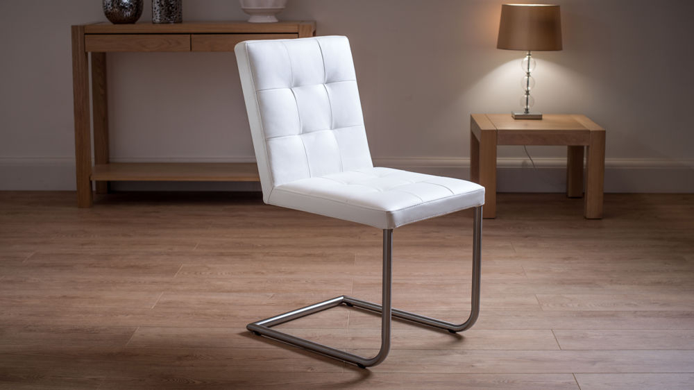 Grey, White And Black Uk Throughout Well Known Real Leather Dining Chairs (View 2 of 20)