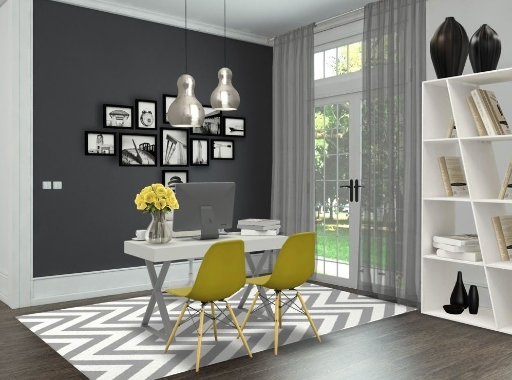 Grey & Yellow Officeandreia Alexandre Interior Styling (View 5 of 20)