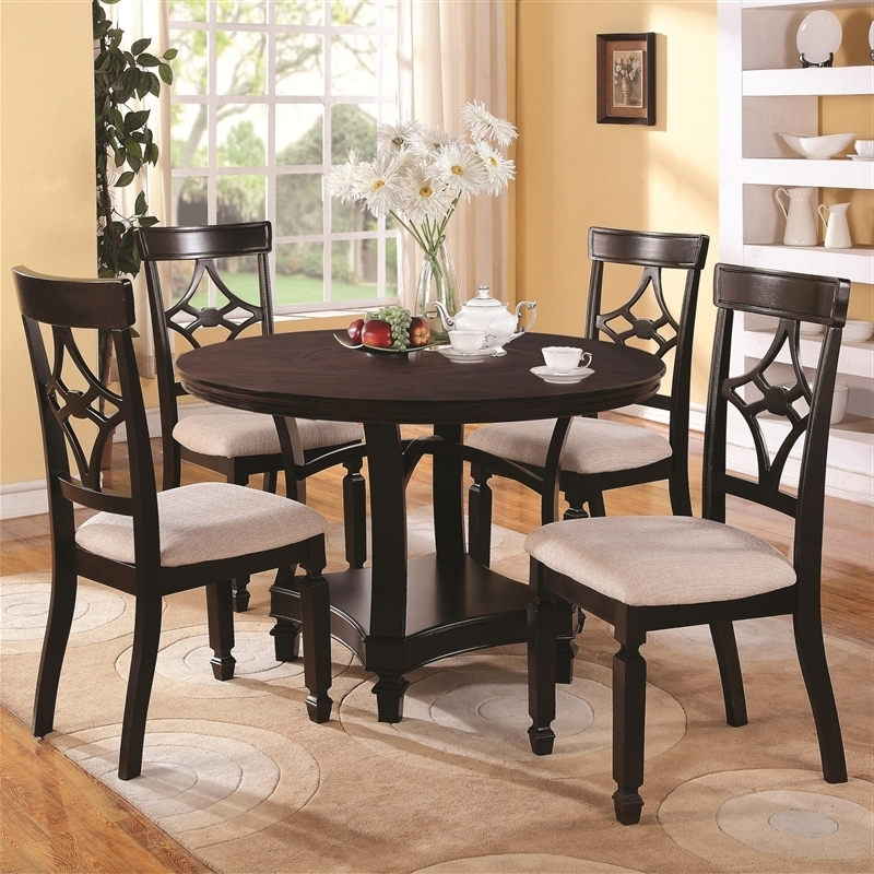Groundswellplayers Regarding Most Popular Caden 5 Piece Round Dining Sets (View 14 of 20)