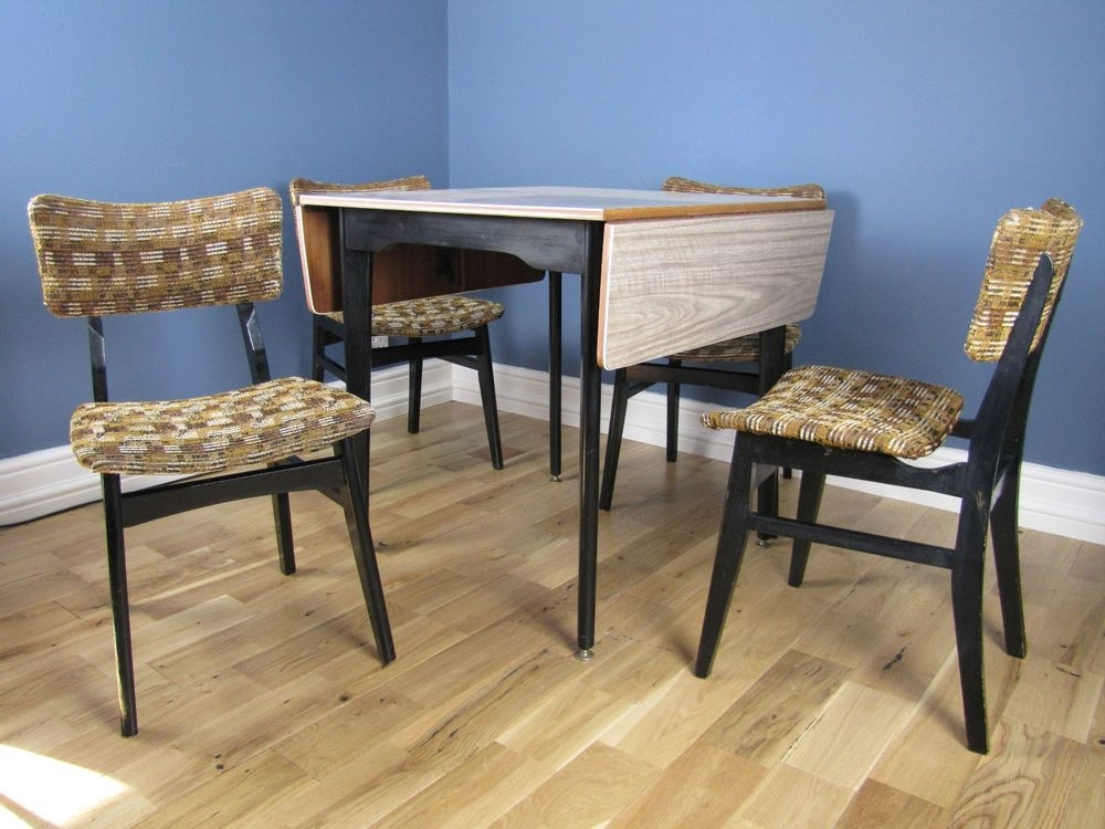Gunner Side Chairs Pertaining To Well Known 1960s Frormica Dining Suite Drop Leaf Table With Matching Four (View 15 of 20)